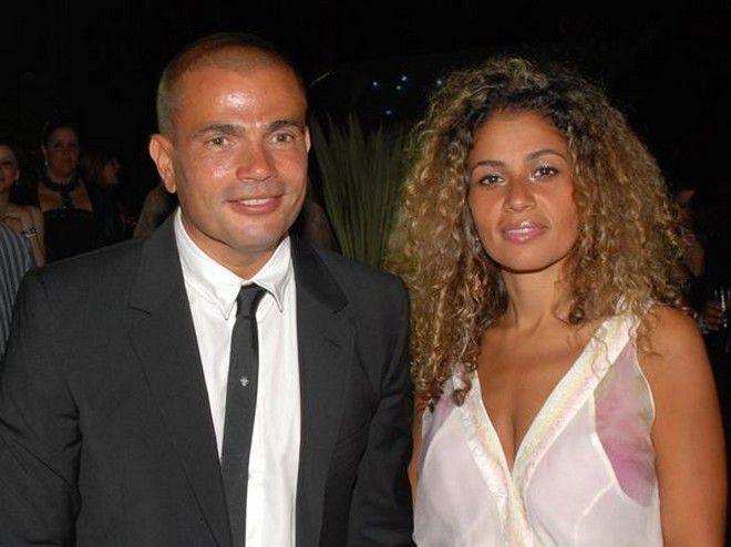 النجمة المصرية عمرو دياب وزوجته السيدة زينة عاشور