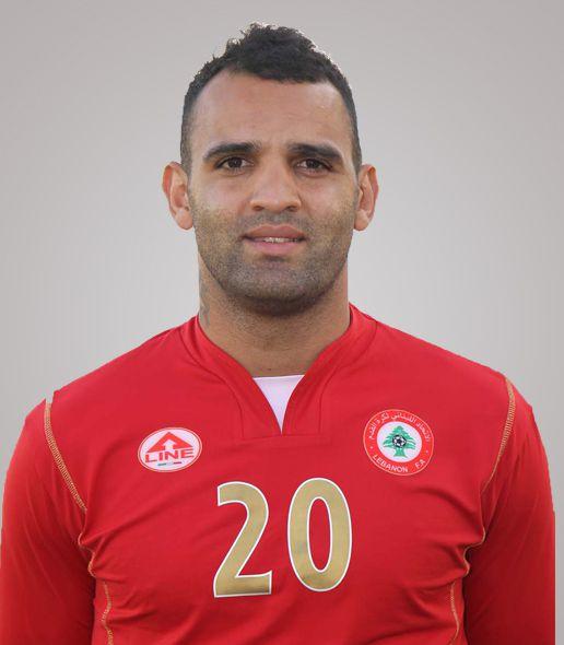 رضا عنتر لاعب بمنتخب لبنان لكرة القدم