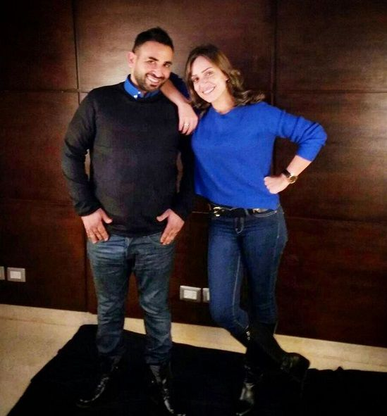 الفنان أحمد سعد وخطيبته السابقة ريم البارودي