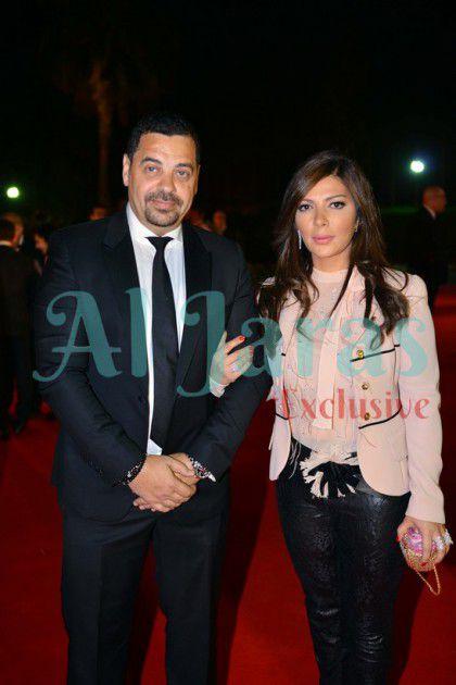 النجمة السورية أصالة نصري وزوجها طارق العريان