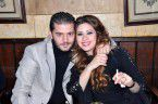 الممثلة السورية إمارات رزق وزوجها الفنان حسام جنيد