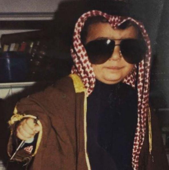 خالد الشاعر في طفولته