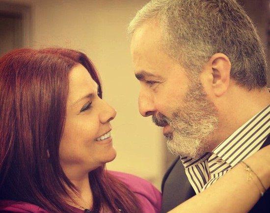النجمة السورية صباح الجزائري وزوجها بلال تقي