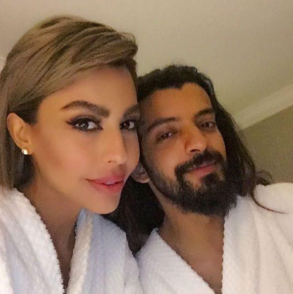 النجمة اللبنانية ليلى اسكندر وزوجها الممثل السعودي يعقوب الفرحان