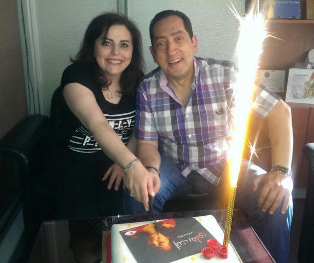 السيدة ميادة بسيليس وزوجها المايسترو سمير كويفاتي