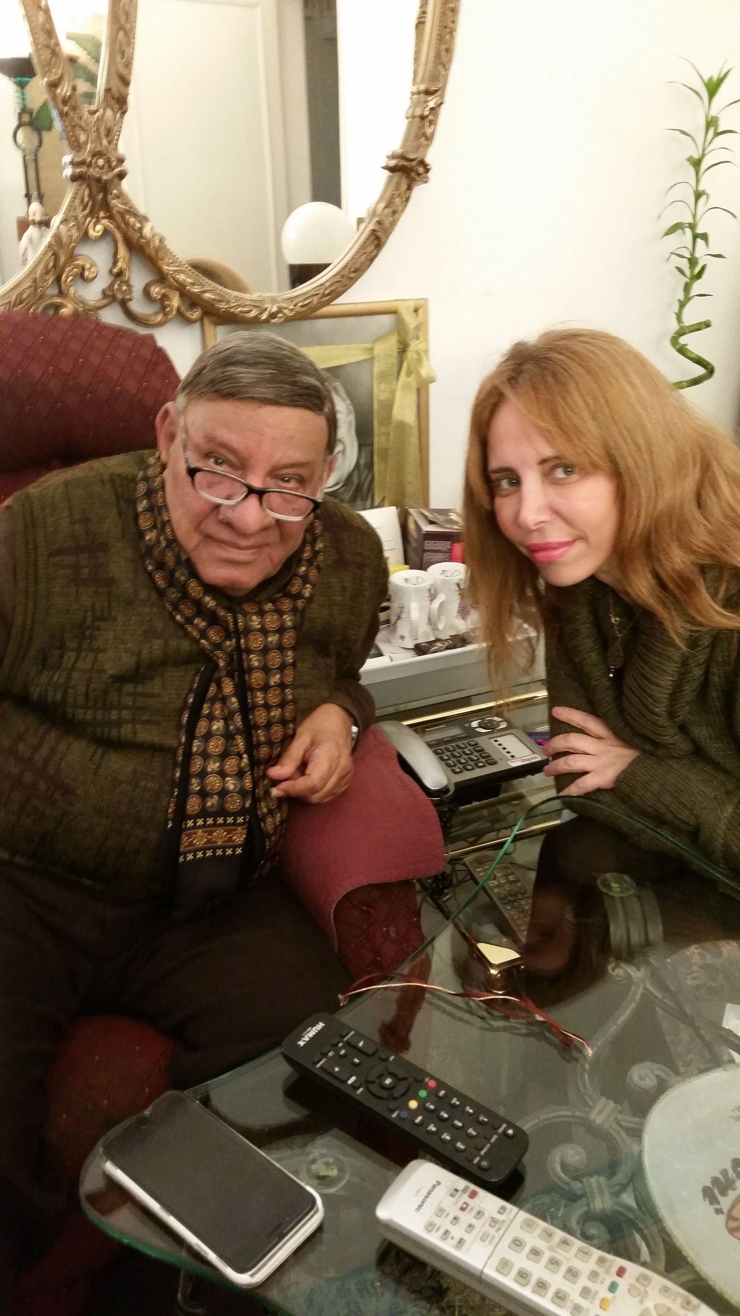 الإعلامي المصري مفيد فوزي برفقة الزميلة ابتسام غنيم