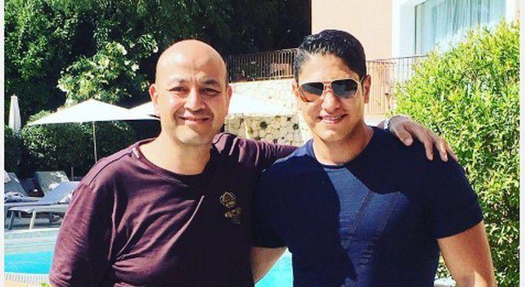 رجل الأعمال المصري أحمد أبو هشيمة والإعلامي عمرو أديب