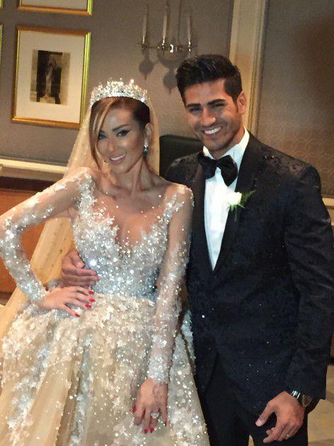 ملك جمال لبنان ربيع الزين وعروسه أنجي قصابية