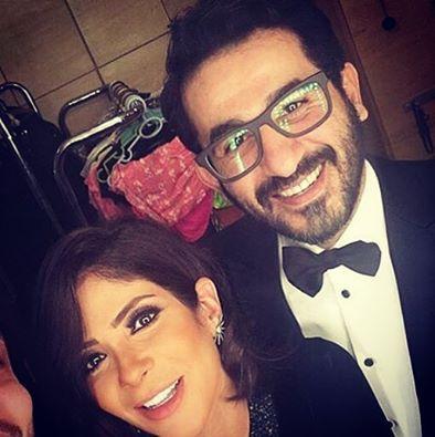 منى زكي وأحمد حلمي في حفل مهرجان القاهرة السينمائي
