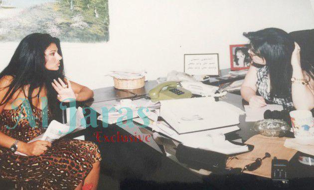 الزميلة رئيسة التحرير نضال الأحمدية وهيفا