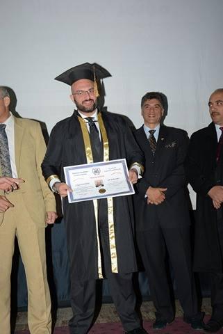 منح دكتور باسم السواح الدكتوراة الفخرية