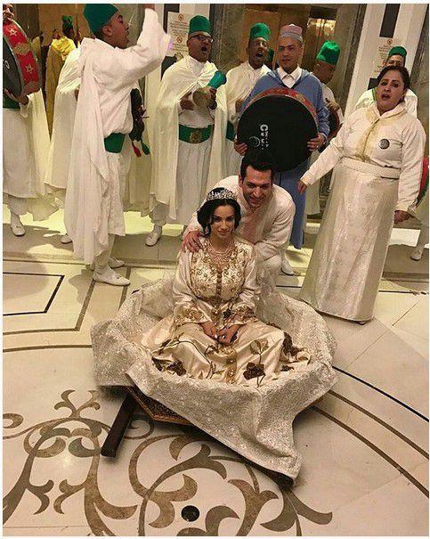 مراد يلدريم وزوجته إيمان الباني