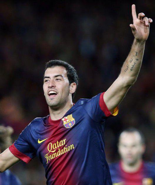 اللاعب الإسباني Sergio Busquets