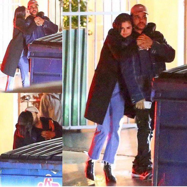 سيلينا غوميز وذا ويكند يقبلان بعضهما في الشارع