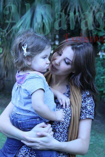 النجمة اللبنانية نانسي عجرم وابنتها ميلا