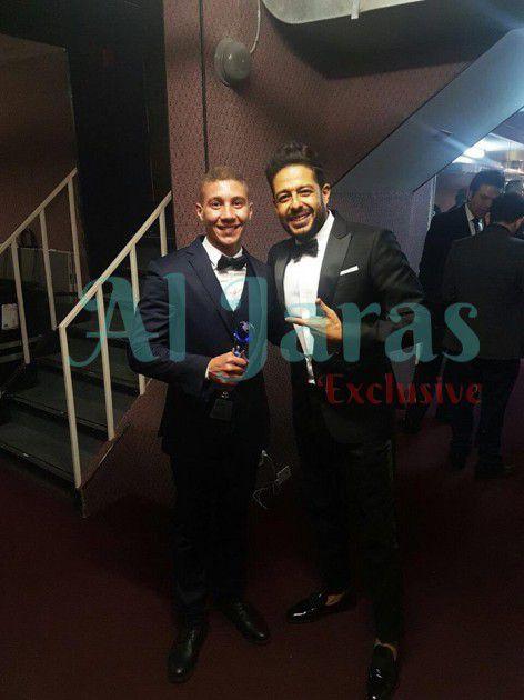 محمد حماقي مع المخرج نور موسى