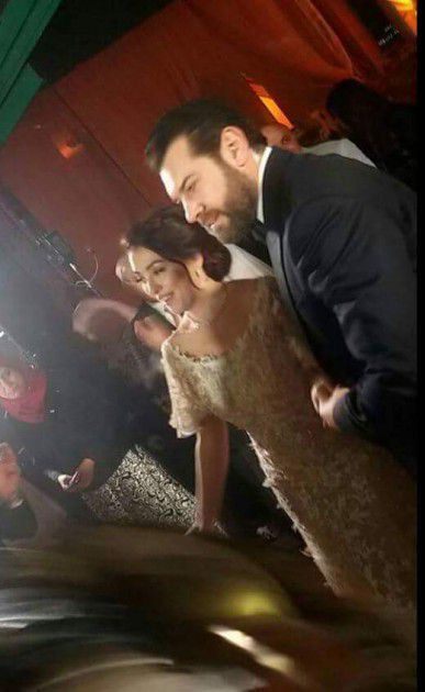 عمرو يوسف وكندة علوش في زفافهما