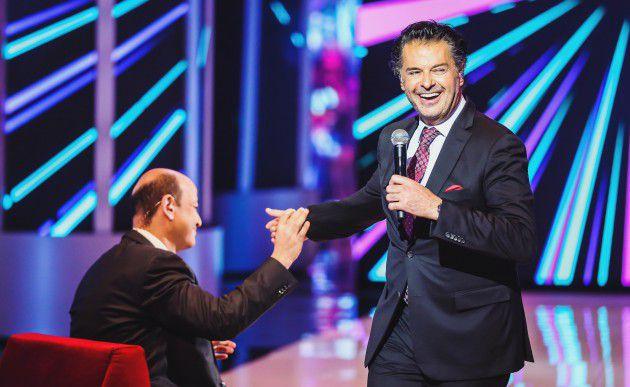 النجم اللبناني راغب علامة ضيف الإعلامي المصري عمرو أديب في برنامج (كل يوم جمعة)