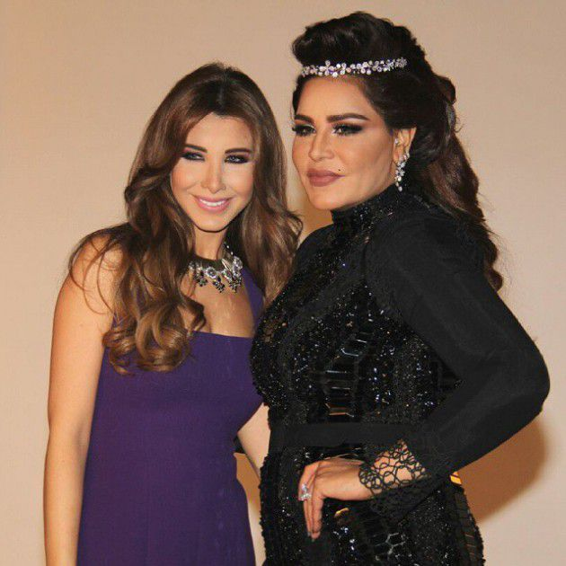 النجمة اللبنانية نانسي عجرم برفقة الإماراتية أحلام