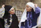 النجمتان السوريتان شكران مرتجى وسلافة معمار في لقطة من مسلسلهما الجديد (وردة شامية)