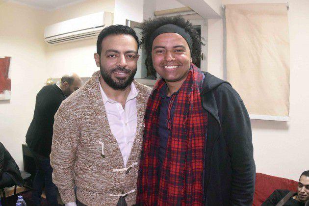 المصور أحمد كوتي برفقة النجم تامر عاشور