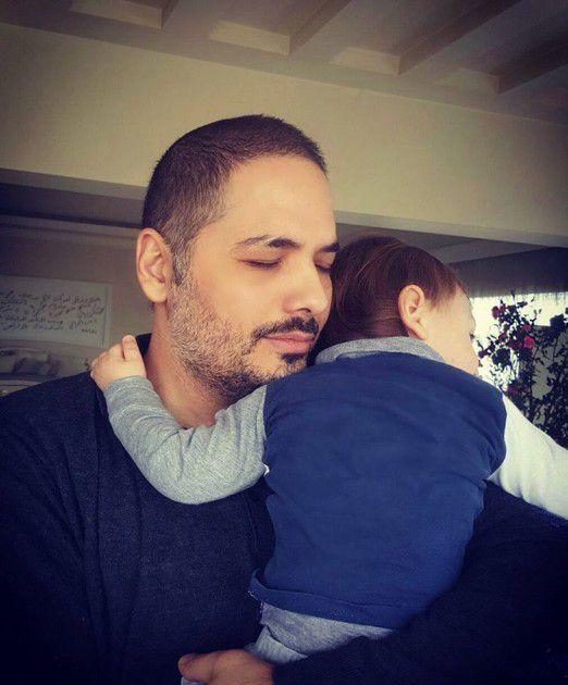 النجم اللبناني رامي عياش برفقة ابنه الوحيد (آرام)