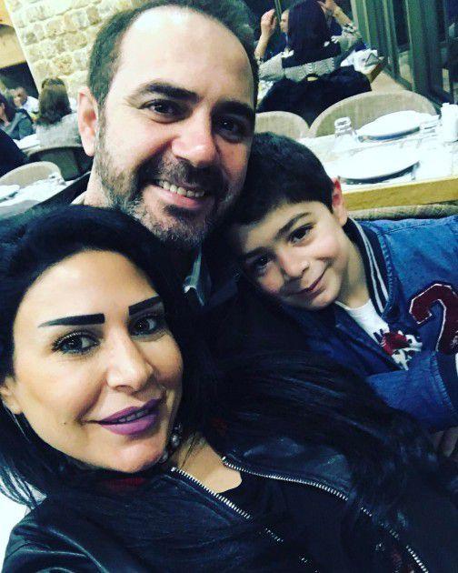 وائل جسار برفقة زوجته وابنهما