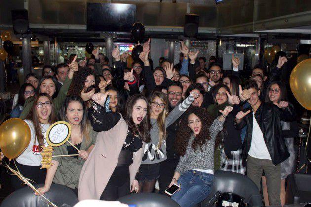 زياد برجي يحتفل وسط جمهوره