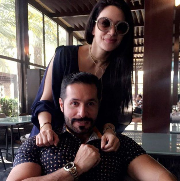 النجمة اللبنانية ديانا حداد وشقيقها