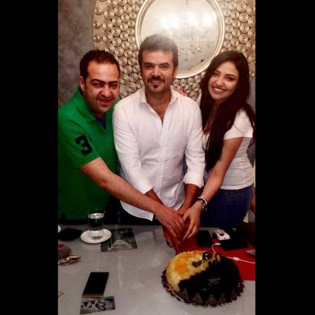 النجم السوري سامو زين يحتفل مع الفنانة المصرية الشابة شيرين يحيى بعرض أولى حلقات مسلسلهما (طعم الحياة)
