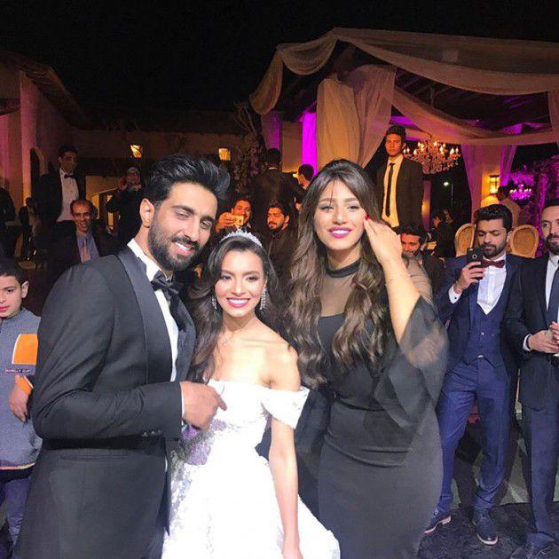 هايدي موسى برفقة كارمن سليمان وعريسها مصطفى جاد