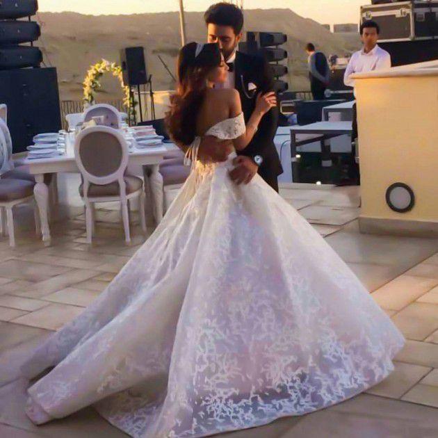 كارمن سليمان ومصطفى جاد احتفلا بزفافهما