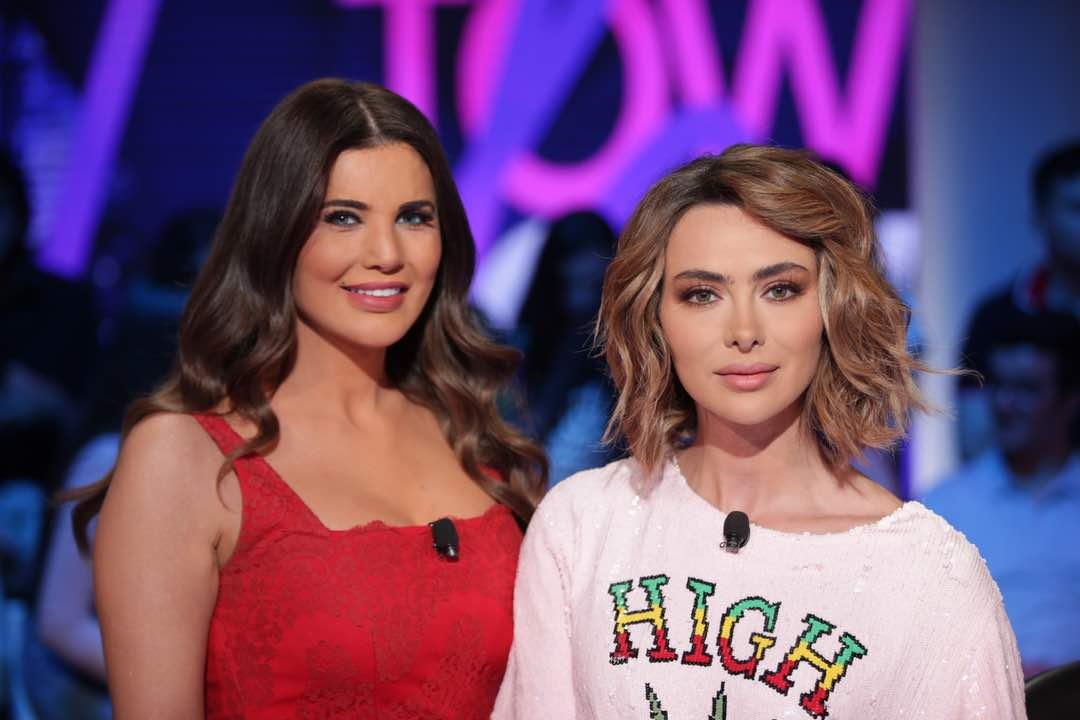 الإعلامية الةلبنانية منى أبو حمزة والممثلة ستيفاني صليبا