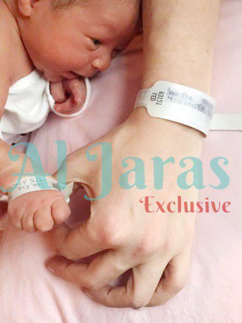 الصورة الأولى لمولود د. نادر صب وأنابيلا هلال