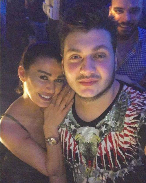 نادين الراسي ولقطة خاصة مع ابنها (مارك)