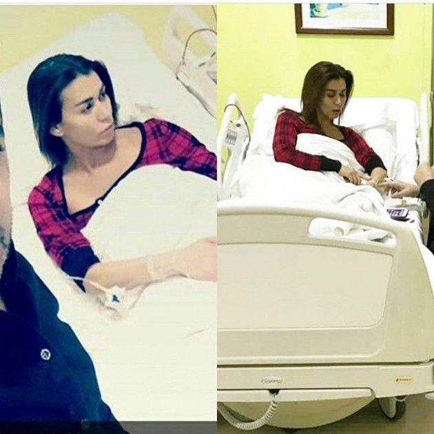 نادين الراسي في المستشفى