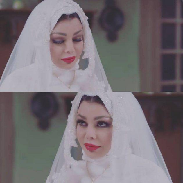 النجمة اللبنانية هيفا وهبي بفستان الزفاف
