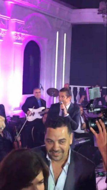 أصالة ترقص برفقة زوجها المخرج طارق العريان في حفل الزفاف