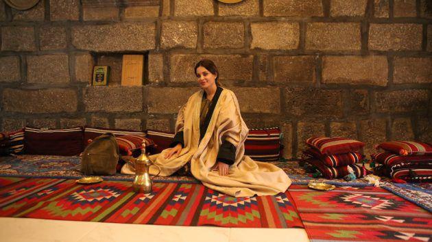 دومينيك حوراني في بادية الأردن