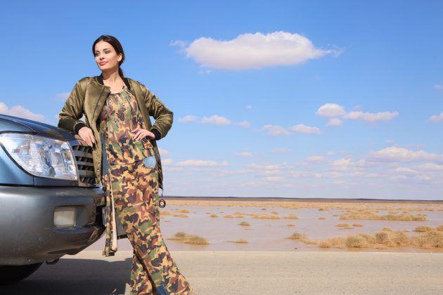 دومينيك حوراني ولقطة من الحلقة المقبلة من برنامجها