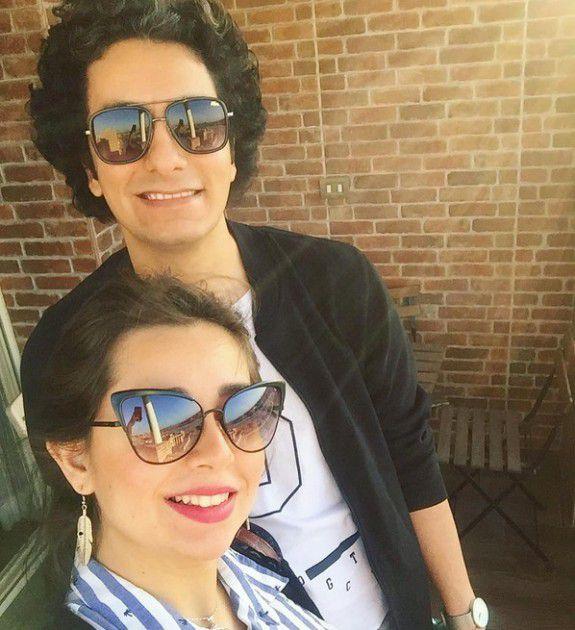 هبة مجدي مع زوجها بأحدث صورة