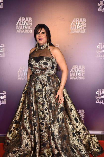 النجمة المصرية فيفي عبده في حفل جوائز الموسيقى العربية