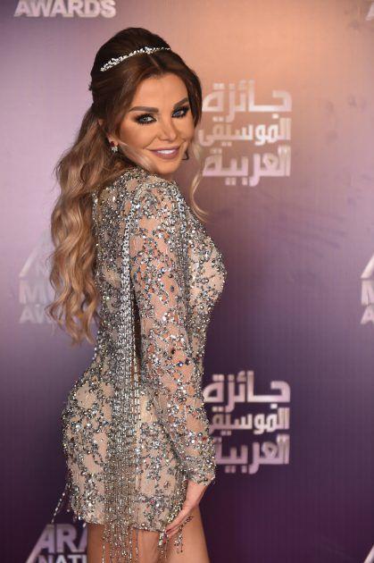 الفنانة والإعلامية اللبنانية رزان مغربي في حفل جوائز الموسيقى العربية