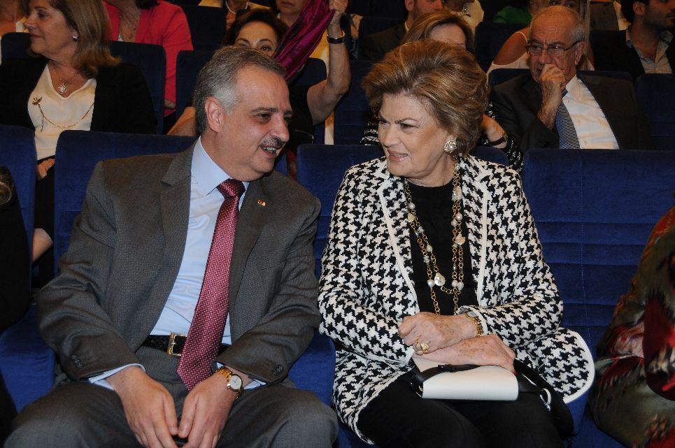 الأمير طلال ارسلان والسيدة منى الهراوي