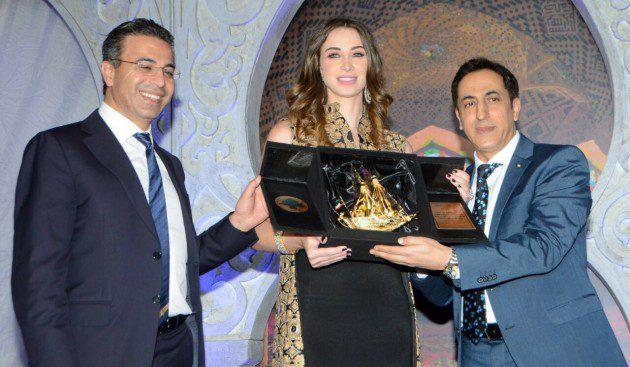 تكريم أنابيلا هلال والدكتور نادر صعب في الكويت