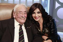 الممثل المصري القدير جميل راتب والإعلامية اللبنانية راغدة شلهوب