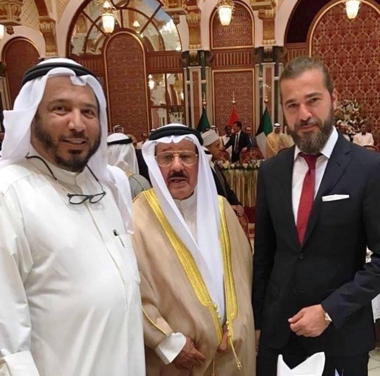 أنجن ألتن مع أمير الكويت الشيخ الصباح