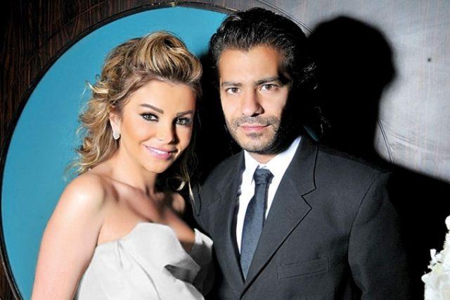 الممثلة اللبنانية رزان مغربي وزوجها ناجي
