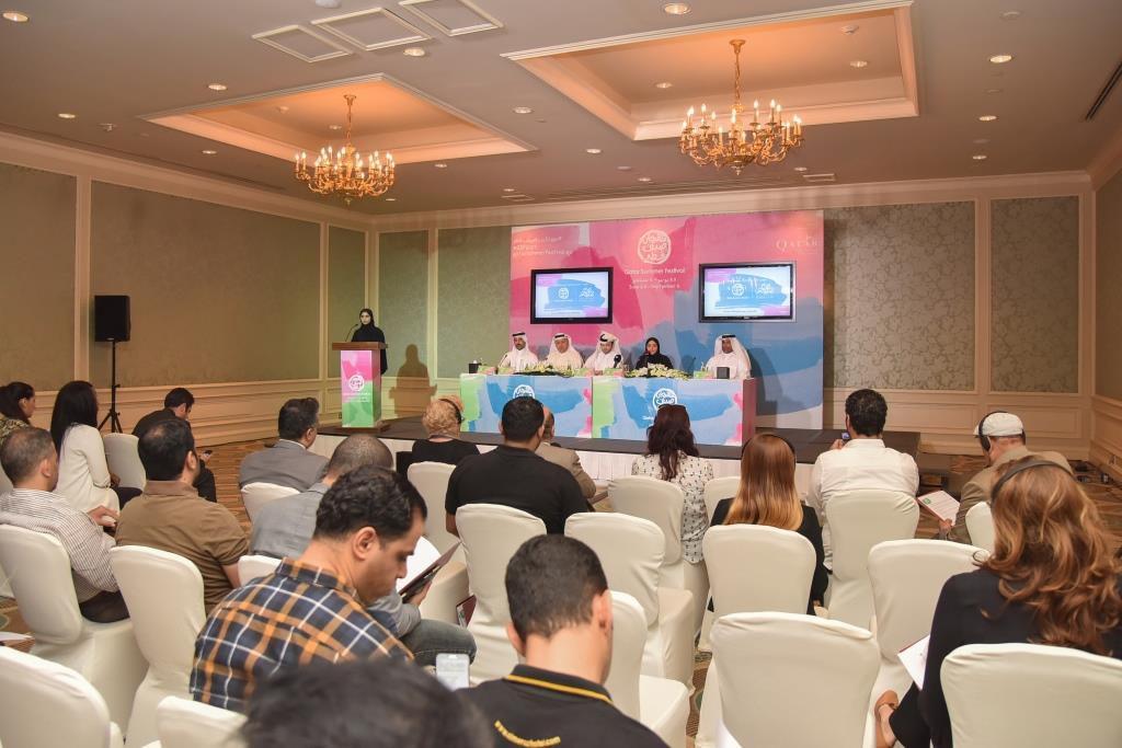 الصحافيون في المؤتمر الصحافي لسالم الهندي
