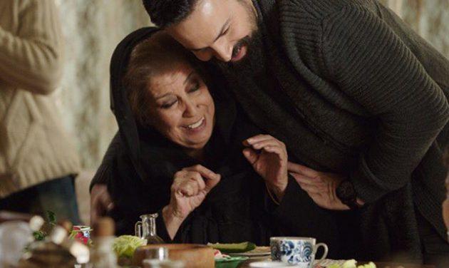 النجمان السوريان منى واصف وتيم حسن في كواليس مسلسل (الهيبة)